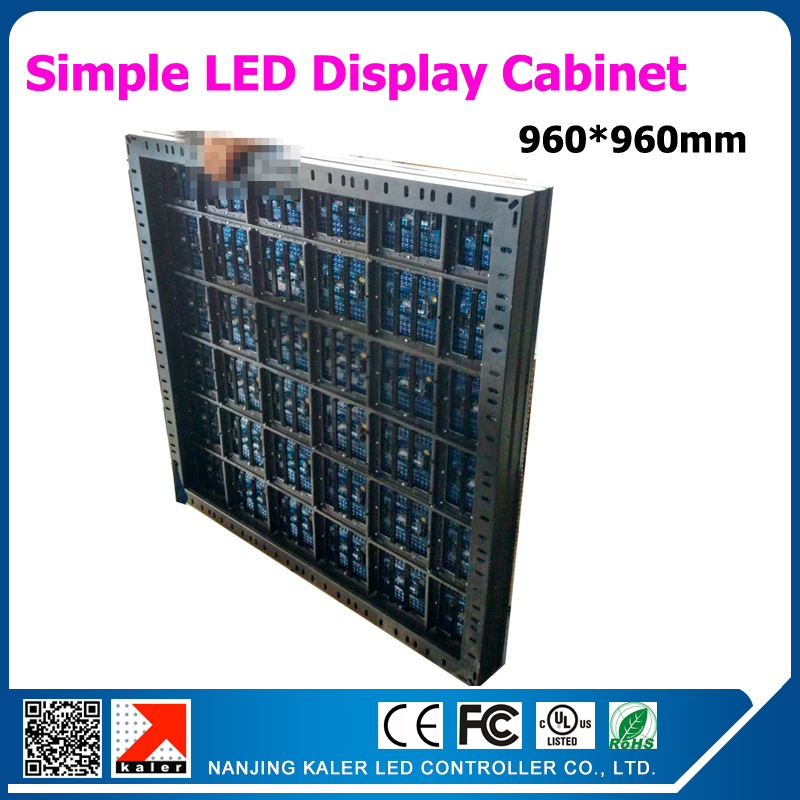 960*960mm P10 Led Display Cabinet Simple Iron Led Sign Cabinet No Led Modules