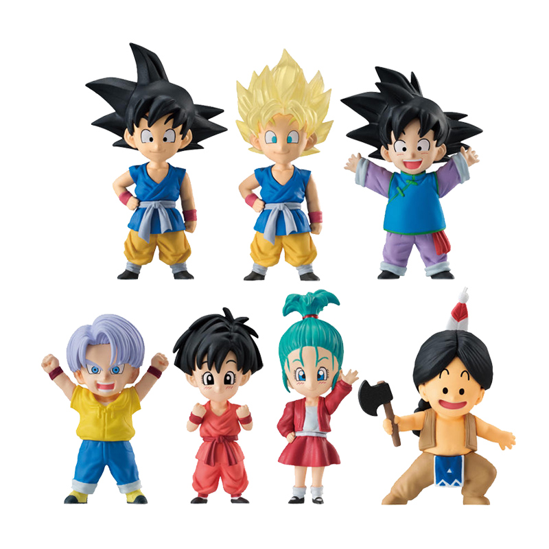 Dragon Ball Z Super Adverge EX 02 Mini Figure Goku Goten Trunks Pan Bulla Upa Full set 100% Original