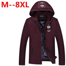 9XL 8XL 6XL 5XL 4XL 2016 Polyester Two Colors Autumn&Spring Men Brand Clothing New Style Quality Short Thin Jackets And Parka