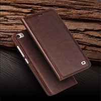 Qialino Real Genuine Leather Case For Xiaomi Mi 5 Case For Xiaomi Mi5 Flip Cover Wallet