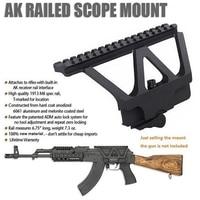 AK WIPSON QD Szybkie Detach Pistolet Side Rail Zakres mocowanie Montaż Na Szynie Picatinny Side Dla AK 47 AK 74 Czarny Darmo wysyłka
