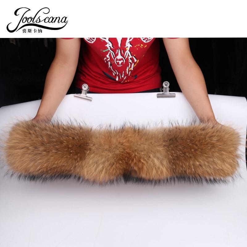 JOOLSCANA real raccoon fur collar winter scarfs