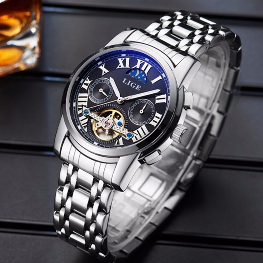 Watches Men Luxury Top Brand LIGE Tourbillon Mechanical Watch Fashion sport casual Automatic Wristwatch relogio masculino 2017 mens watches top brand luxury lige 2017 men watch sport tourbillon automatic mechanical leather wristwatch relogio masculino