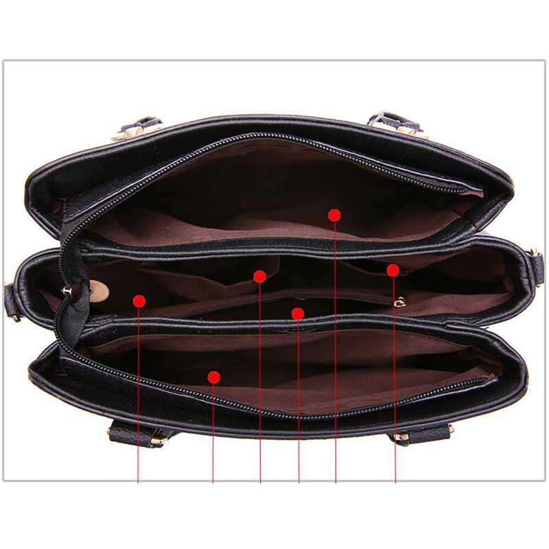 SMOOZA ファッション女性のハンドバッグ Pu レザートートバッグトップ刺繍クロスボディバッグショルダーバッグレディーシンプルなスタイルバッグ