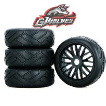 GWOLVES RC Buggy GT Truck Off-Road On-road Racing track High grip hot melt tire Tyre 17mm adapter wheels for 1/8 RC car parts 4pcs 1 8 rc off road buggy snow sand paddle tires tyre and wheels for 1 8 rc car