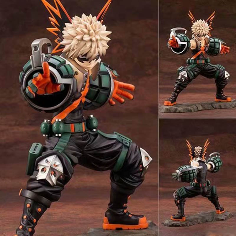 meu heroi academia bakugou katsuki figura de acao 1 8 escala pintada figura dois rosto luta