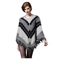 2017 Women Fashion Sweater Pull Pullover Cardigan Capes And Ponchos Winter Cape With Tassel Vintage Bohemian