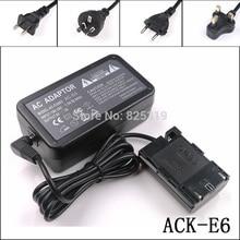 ACK E6 + DR E6 ACKE6 ACK E6 AC חשמל מתאם ערכה עבור Canon SLR מצלמות EOS 7D 7D Mark II 7D2 60D 60Da 70D 70D (N) 70D (W)