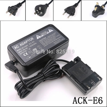ACK E6 + DR E6 ACKE6 ACK E6 التيار المتناوب طقم محوّل الطاقة لكانون كاميرات SLR الرقمية EOS 7D 7D مارك II 7D2 60D 60Da 70D 70D (N) 70D (W)
