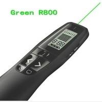 JSHFEI 2.4 GHz wireless USB Logitech R800 Remote Control Page Turning Green laser Pointer Pen wireless Presentation presenter