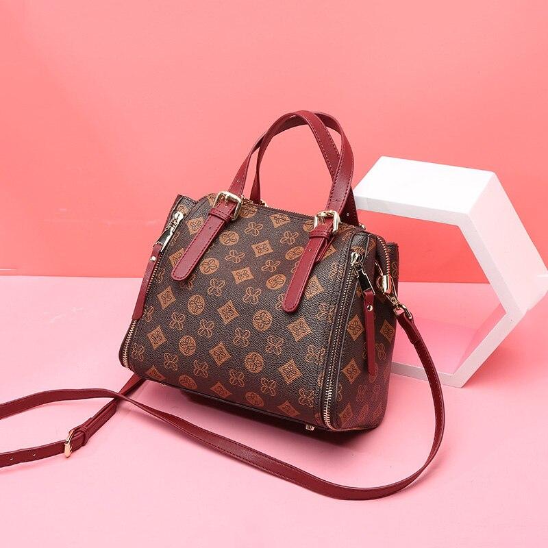 Vintage Women Messenger Bags Large Capacity Women Bags Shoulder Tote Bags Famous Designers Split Leather Handbag