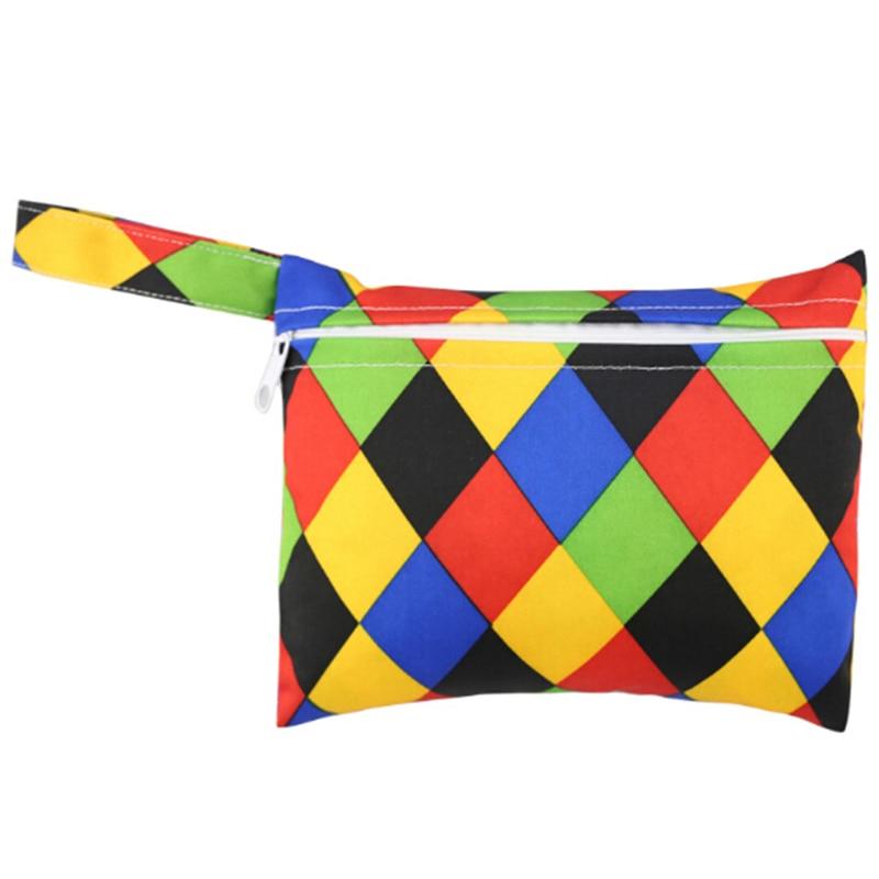 Mini Nursing Wet Bag Waterproof Reusable for Mama Cloth Menstrual Pads LS