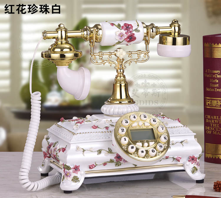 Fashion vintage decoration home antique telephone rustic telephone/Hands-free/ backlit version Caller ID