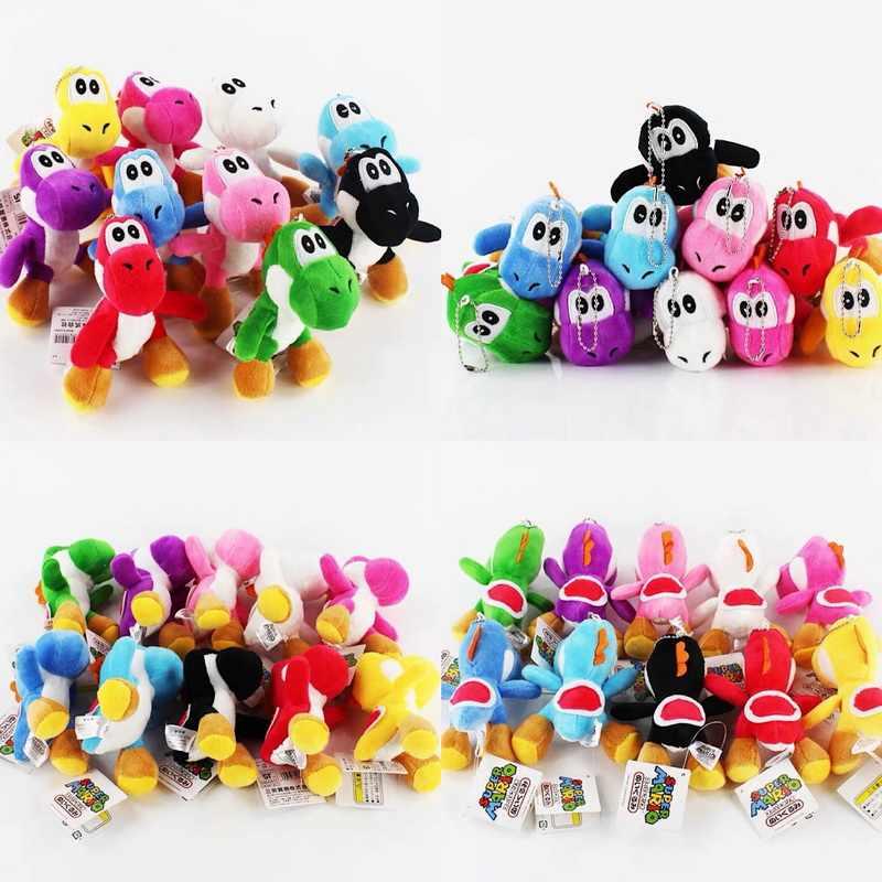 10 шт./лот Супер Марио Bros yoshi Дракон мягкая плюшевая игрушка кукла 10 цветов мягкий брелок Подвески
