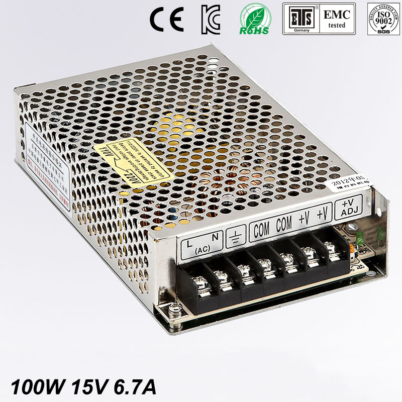 15V 6.7A MS-100-15 MINI led driver, mini switching power supply,min power switch,mini size smps with overload protection dhl ems yaskawa servo motor sgmas c2aga su12 good in condition for industry use a1
