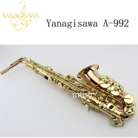 2017 NEW Japanese Yanagisawa A 992 E Flat Alto Saxophone Gold Lacquer Sax Music Instruments Perfect