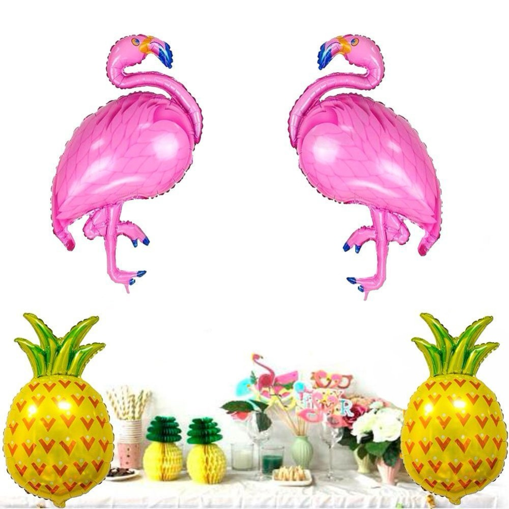 4pcs/set large flamingo pineapple foil balloon kids party toys decoration