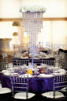 Crystal Wedding Chandelier Table Centerpiece Flower Stand 80cm(H) Wedding decoration 10 pcs/lot
