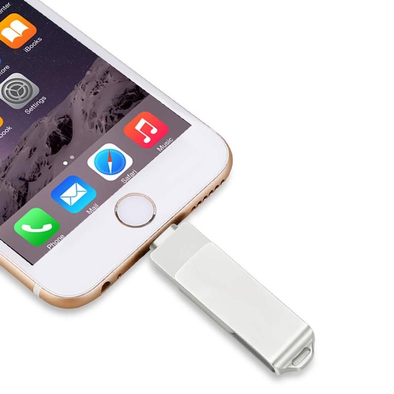 USB 3 0 Flash Drives for iPhone 3 in 1 OTG Jump Drive External Micro USB