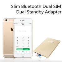 Dual Sim Card Adapter Bluetooth for Apple iPhone iPad Touch iPod Slim Dual Standby Adapter Two Active Sim Card Holder