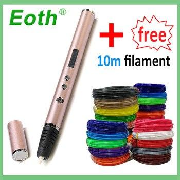 3D Kalem 1.75mm ABS/PLA DIY led ekran, USB Şarj 3D Baskı Kalem Filament Yaratıcı Oyuncak Hediye Çocuklar Için