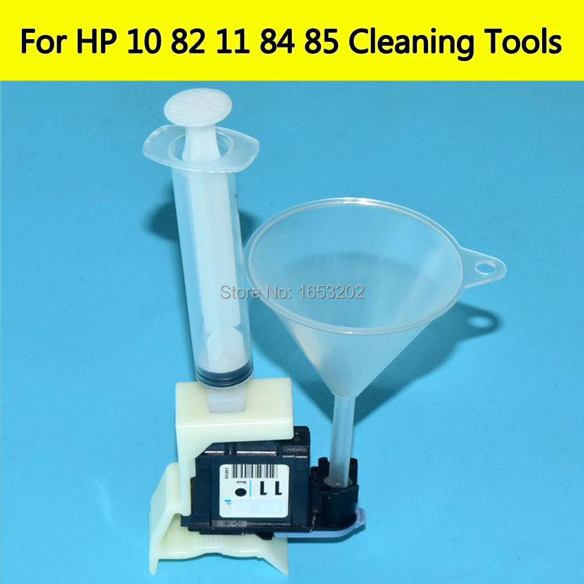 Printhead Cleaner Units kit For HP 11 10 82 84 85 Cleaning Tools For HP 100/110/111/500/510/800/813/850/510 Printer Head Nozzle