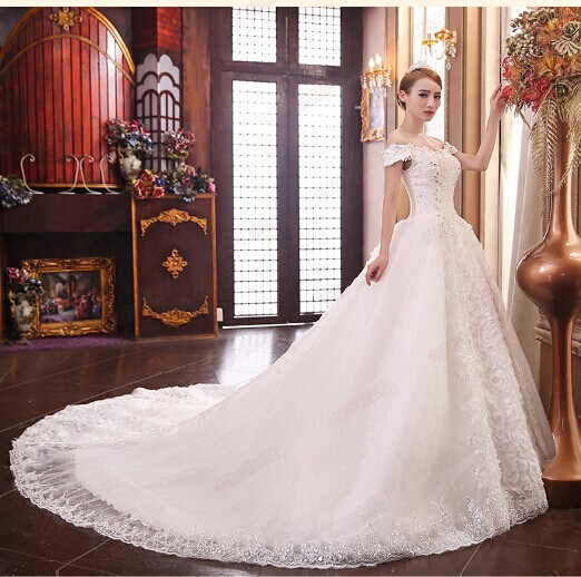The New White Dress Wedding Dresses Get Married For A Word Shoulder Lace Style Restoring Ancient