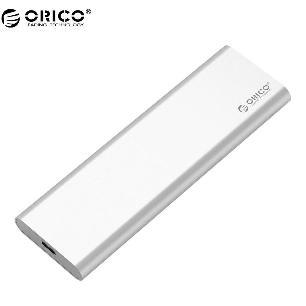 Tipo In Alluminio ORICO Doppio Bay mSATA-C SSD Enclosure USB3.1 GEN2 Support 10 Gbps ad alta velocità Per Mac-argento MSG-RC3
