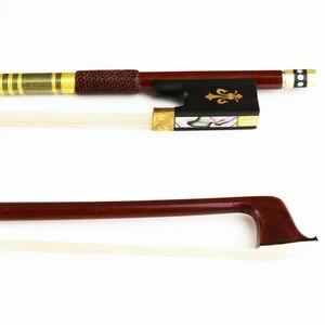 Бесплатная доставка Новый 4/4 продвинутый пернамбуко скрипка бант натуральный конский волос круглая палочка аксессуары для скрипки
