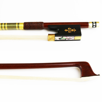 Free Shipping NEW 4/4 Advanced Pernambuco Violin Bow Natural Horsehair Round Stick Violin Parts Accessories 4 4 carbon fiber bow silver silk braided carbon fiber round stick with ox horn frog natural horsehair well balance