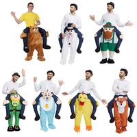 Funny Carry Me Fancy Dress Up Ride On Oktoberfest Mascot Party Mascot Halloween Costume One Size