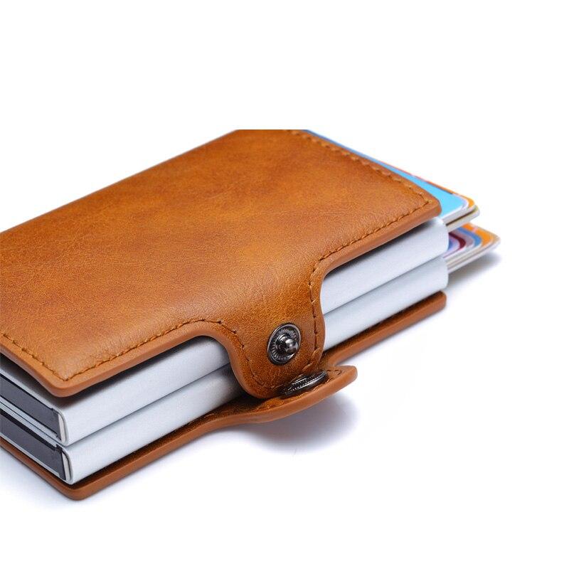 7ea3f21ec Rfid bloqueo automático de los hombres delgados billeteras hombre Mini  cartera monedero Slim tarjeta titulares ID