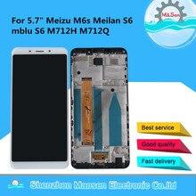 """המקורי M & סן 5.7 """"עבור Meizu M6S Meilan S6 Mblu S6 M712H M712Q LCD תצוגת מסך + מגע פנל Digitizer מסגרת עבור M6s Mblu S6"""