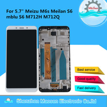 """Meizu M6S Meilan S6 Mblu S6 M712H M712Q LCD 스크린 디스플레이 + M6s Mblu S6 용 터치 패널 디지타이저 프레임 용 기존 M & Sen 5.7"""""""