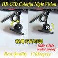 O Envio gratuito de Mini CCD HD Visão Noturna 360 Graus Carro Vista frontal Da Câmera Frontal Câmera Frontal Vista Lateral Invertendo Backup câmera