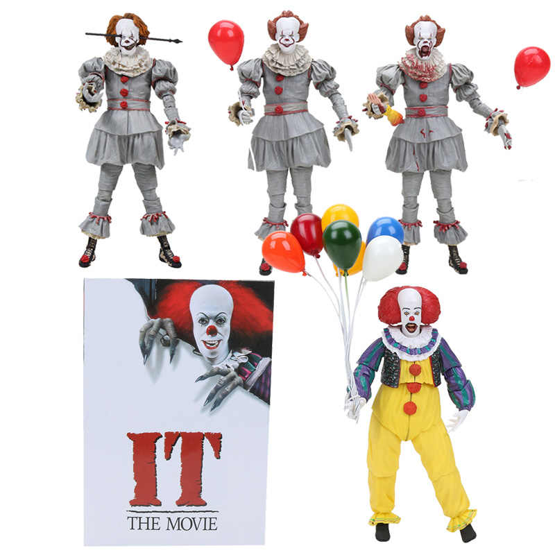 10-25 cm NECA o filme Palhaço Pennywise Coringa 1990 Stephen King Action Figure Model Collection Toy Halloween decorações Presentes