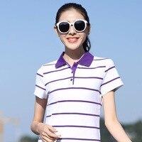 Polo ralphwomen pol shirt polo Frühjahr hochwertige gestreift kurzarm baumwolle dame Blei casual unterwäsche hemd T007