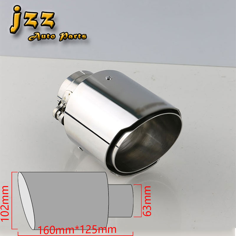 Jzz Cozma 63mm inlet 102mm outlet akrapov car font b Exhaust b font Muffler Tip font