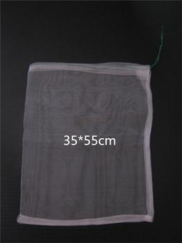 50pcs/lot-35*55 40 Mesh Nylon bag,Fish Fruit wristband bag,Insect birds pest filter bag,Rice seed soaking,Seed storage bag