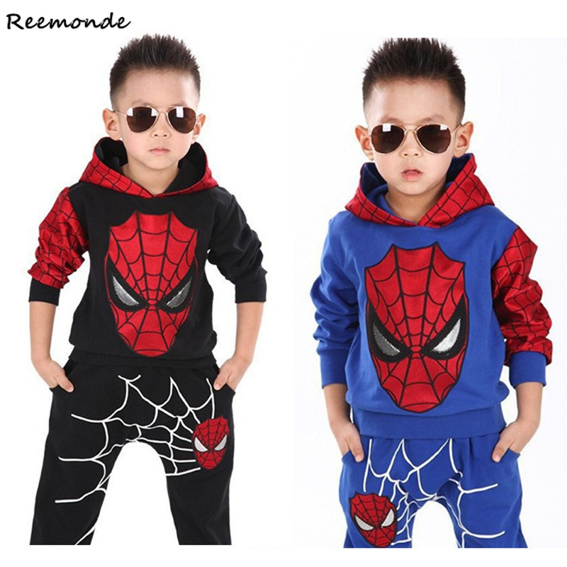 Children Spider-Man Cosplay Costumes Hoodies Sweatshirts Clothes Matching Sport Winter Suits For Kids Girls Boy Party Uniforms