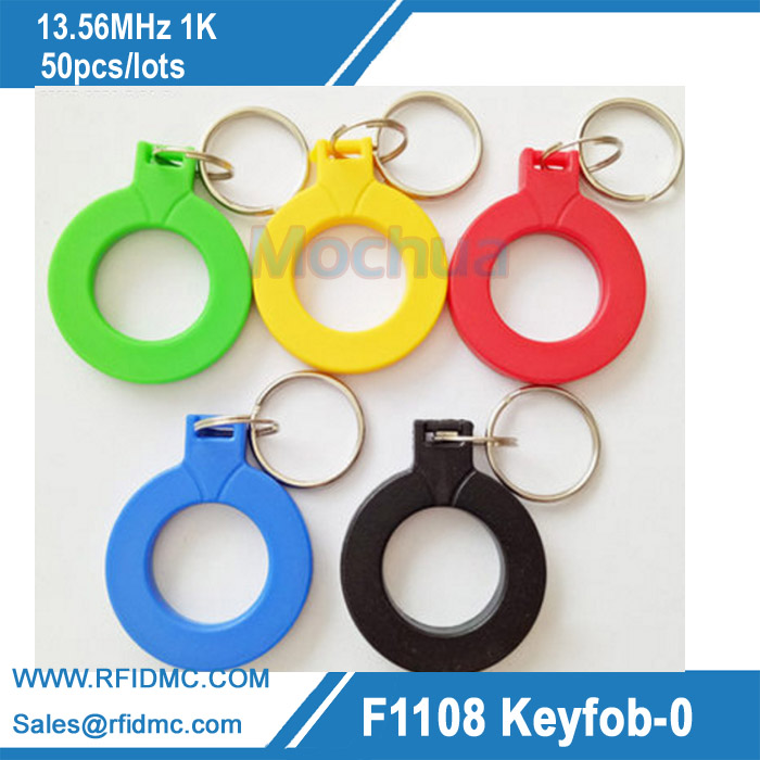 RFID IC keyfobs I3.56 MHz keychains NFC key tags ISO14443A MF Classic 1k token tag for smart access control system new design rfid ic keyfobs i3 56 mhz keychains nfc key tags iso14443a rfid mf classic 1k tag for smart access control system