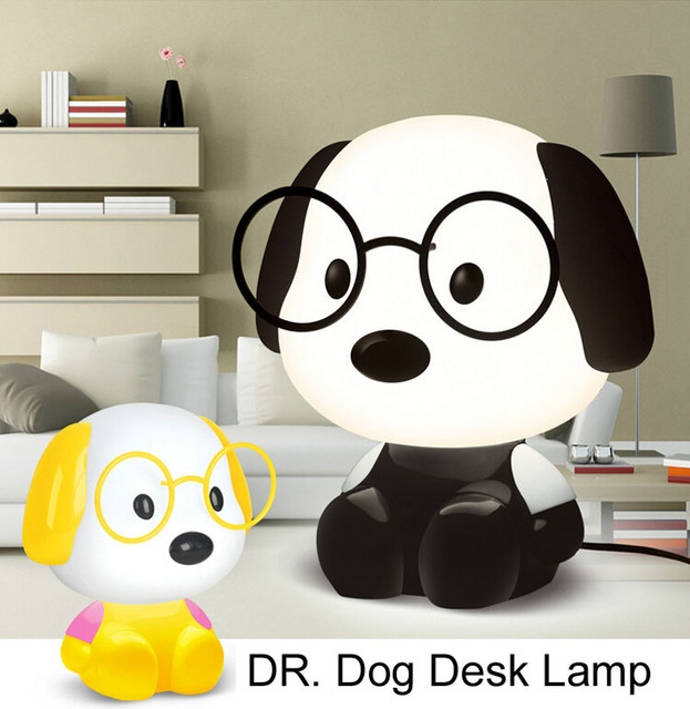 Cartoon Led 220v Table Lamps For Living Room Bedroom Dr. Dog Desk Lamp  Children Study
