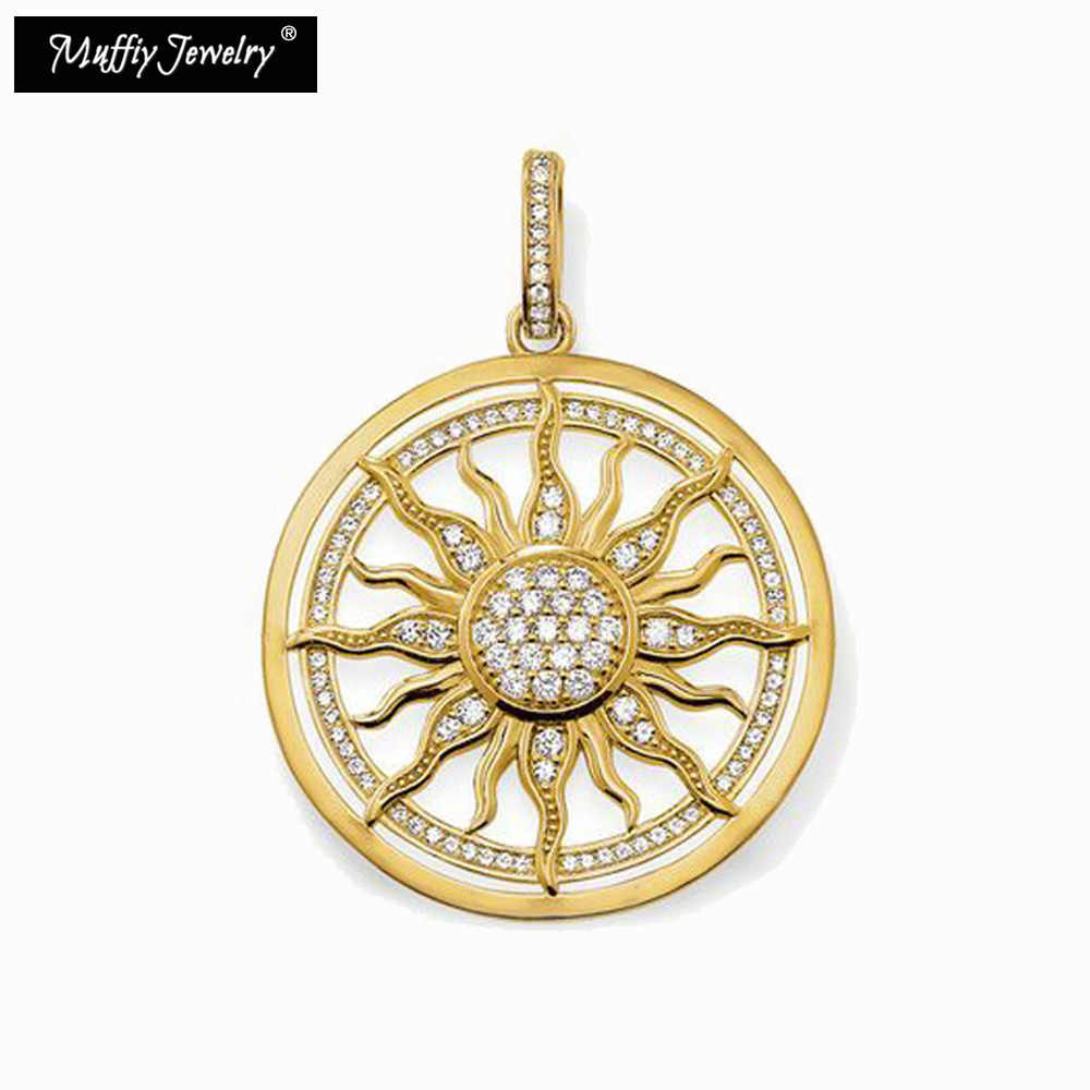 Golden Circle Sun Pendant,Thomas Style Glam Fashion Good Jewerly For Women,2017 Ts Gift In Gold Color,Super Deals