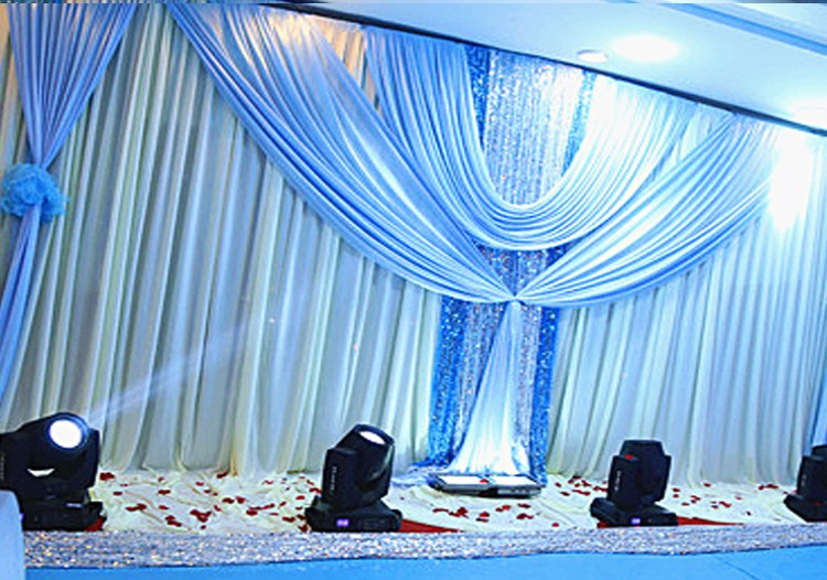 3 6m Ice Silk Wedding Party Stage Celebration Background