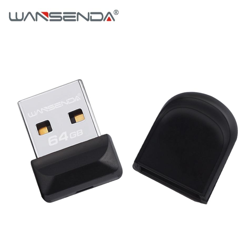 2019 WANSENDA Super Mini USB Flash Drive Pen Drive 32GB 64GB Waterproof USB Stick 8GB 16GB Pendrive Cle USB Flash Memory Stick