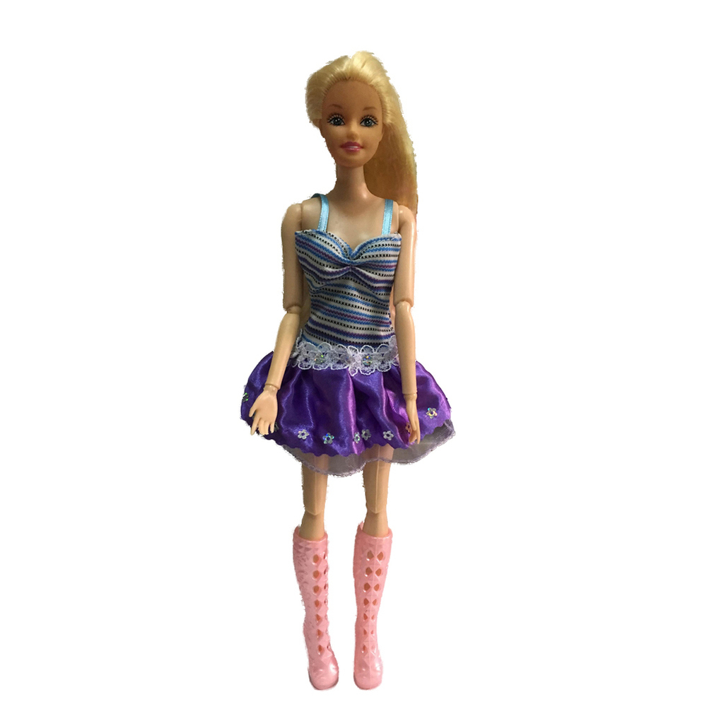 Authentic For Barbie Purple pp001 Costume Garments Celebration Robe Informal wears
