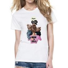 Mommy's Love Female T-shirt Super Mama Print Women's Clothing 2019 Vogue Print T Shirt Fem