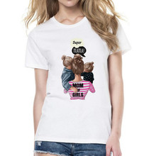 Mommy's Love Female T-shirt Super Mama Print Women'