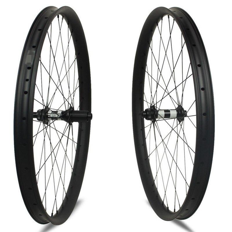 Une paire de roues en VTT carbone 29 ''DT swiss 350 moyeu central Lock Top qualité vtt roues Tubeless Super léger vélo
