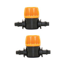 "Tuinslang 1/4 irrigatie water valve Mini Valve 2 manier tap 4/7 slang waterstop connectors 1/4 ""barb Drip adapter 4 stks(China)"